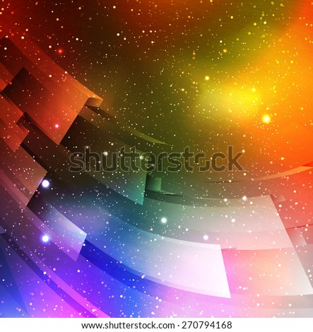 Stardust splash. Colorful space vector illustration.  - stock vector