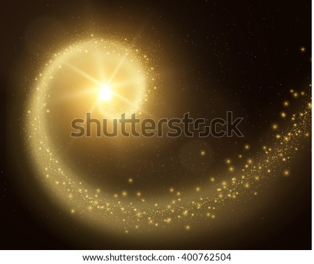 Stardust trail magic vector background. Vector eps10. - stock vector