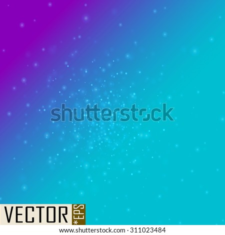 Starry sky background - stock vector