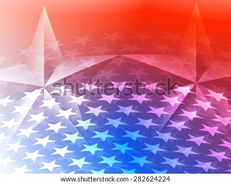 Stars America Celebration Background - stock vector