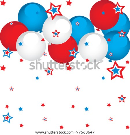 stars and balloons