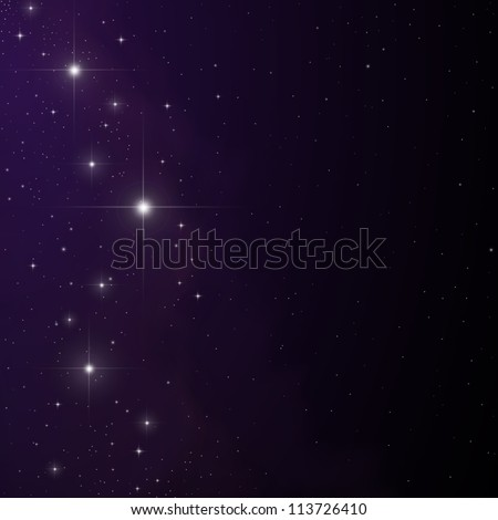 Stars and nebula vector - stock vector