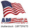 Stars and Stripes Flag Patriotic AMERICA - stock photo