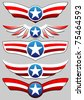 stars and stripes set - stock vector