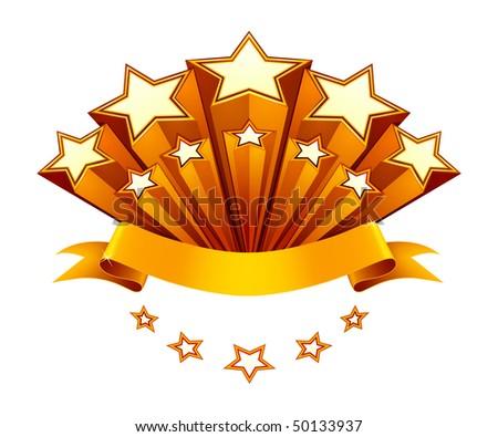 Stars emblem, vector - stock vector