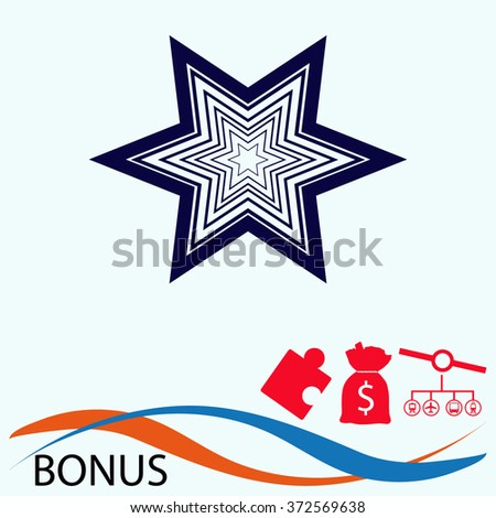 Stars favorite or best choice icon. Vector star.