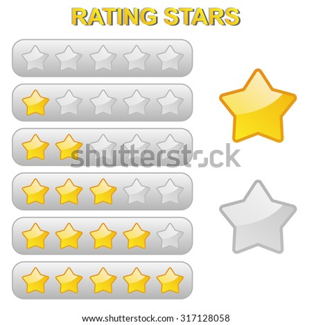 stars for goods or travel rating from 0 to 5