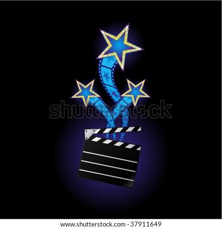 Stars from cinema - stock vector