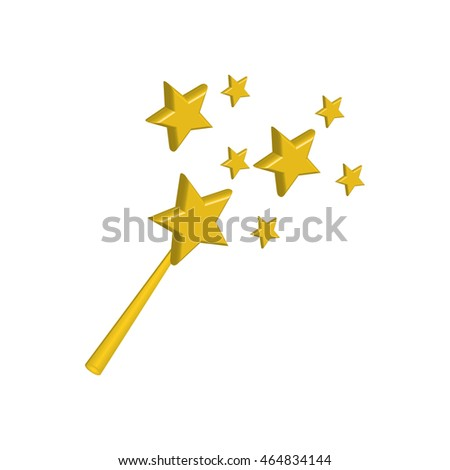 stars gold magic surprise icon. Isolated and flat illustration. Vector graphic
