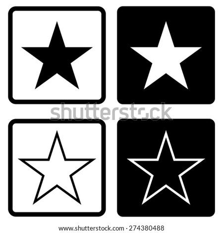 Stars icon - stock vector