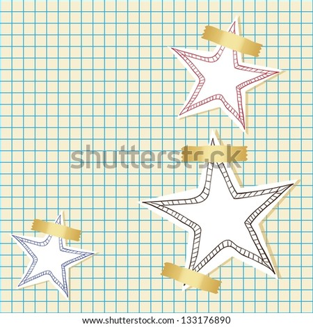 Stars icons and concept colorful, vector illustration
