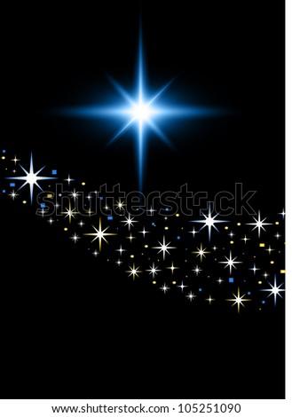 Stars in the night sky esp10 - stock vector