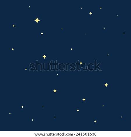 Stars in the night sky. Vector illustration, eps 8. - stock vector