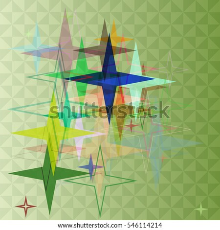 stars into multiple image, graphic place at booklet