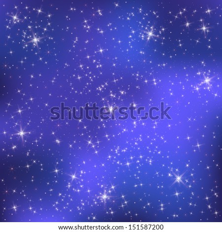 Stars on a blue background  - stock vector