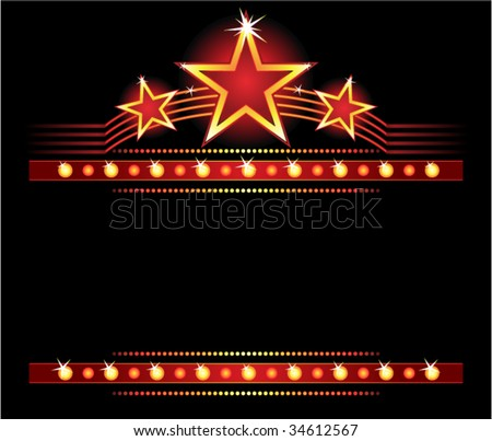 Stars over copyspace - stock vector