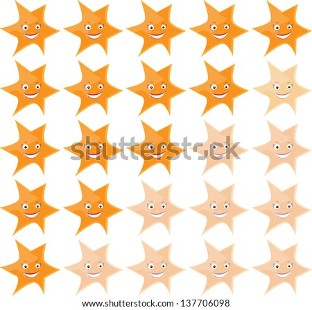 Stars ranking - stock vector