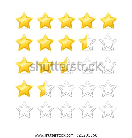 Stars Rating. Bright and Shiny. Vector illustration