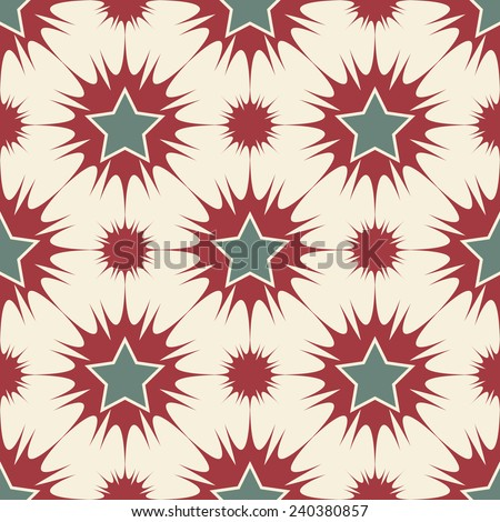 Stars seamless pattern retro colors vector background