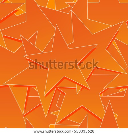 Stars seamless vector background