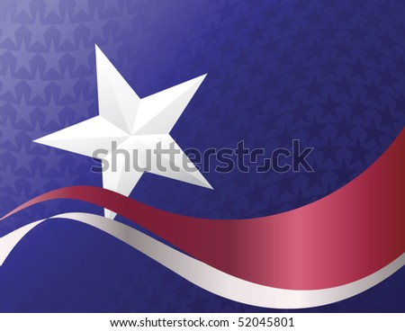 Stars & stripes illustration, vector