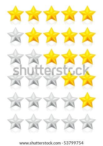 Stars, vector - stock vector