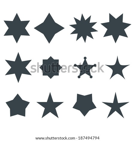 Stars Vector Shapes Set - stock vector
