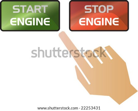start and stop engine illustration