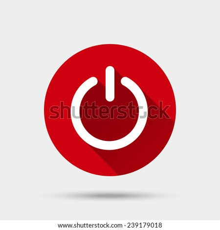 Start button icon. Vector illustration - stock vector
