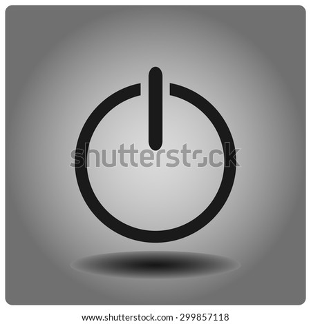 start button vector icon. Flat design style - stock vector