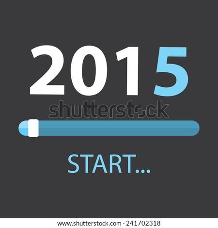 Start 2015 Illustration - stock vector
