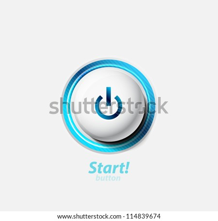 Start | power button - stock vector