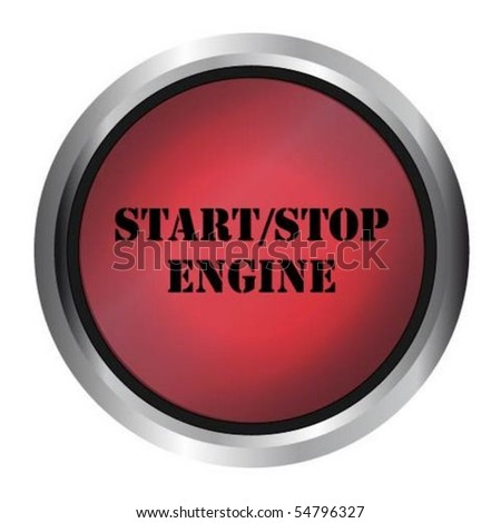 Start Stop Engine button - stock vector