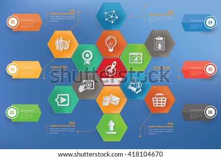 Start up,business concept info graphic design on blue background,vector