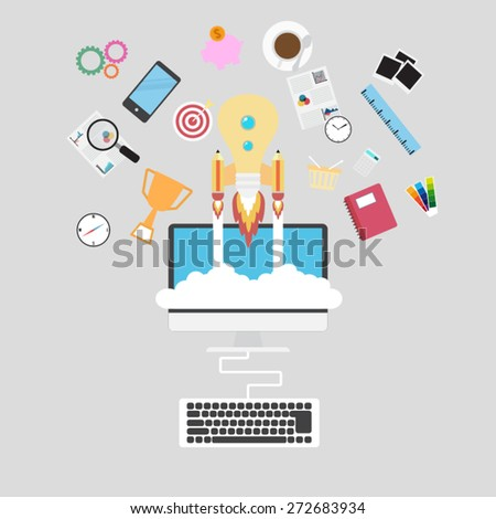 Start up concept - stock vector