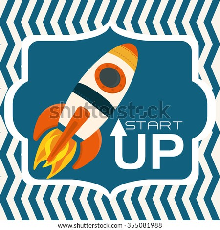 Start up  concept  with icons design, vector illustration 10 eps graphic.