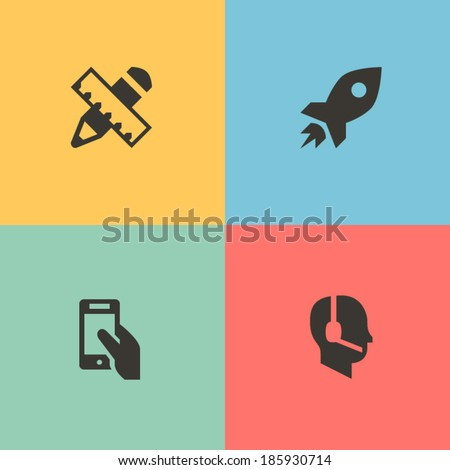 Start up icons - stock vector