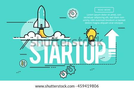 Start up line flat design banner 459419806 for How to start a home decor line