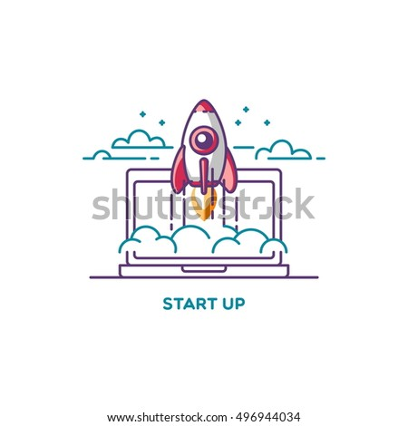 Start up icons stock images royalty free images vectors for How to start a home decor line