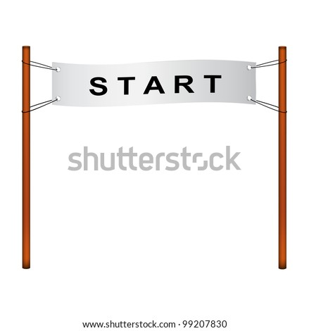 Starting line � ribbon with start - stock vector