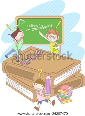 Starting School - stock vector