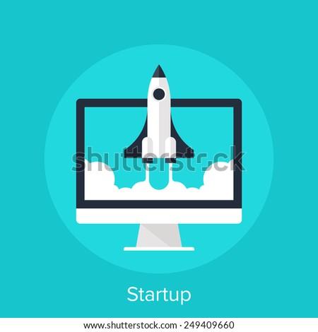 Startup - stock vector