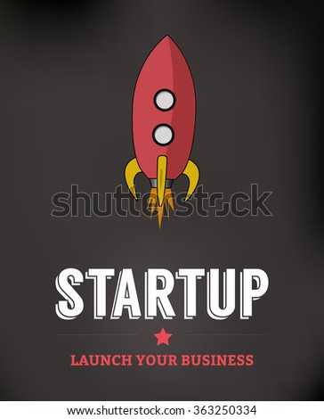 Startup Business Background - stock vector