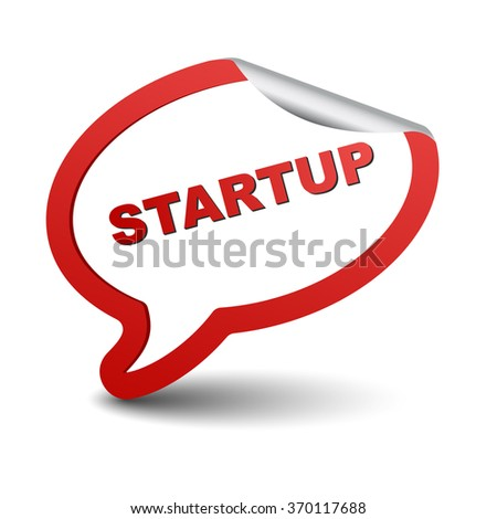 startup, red vector startup, red bubble startup, element startup, sign startup, design startup, picture startup, illustration startup, symbol startup, startup eps10