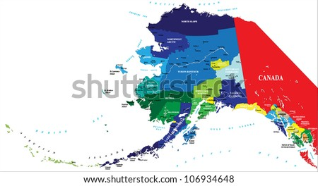 State of Alaska map - stock vector