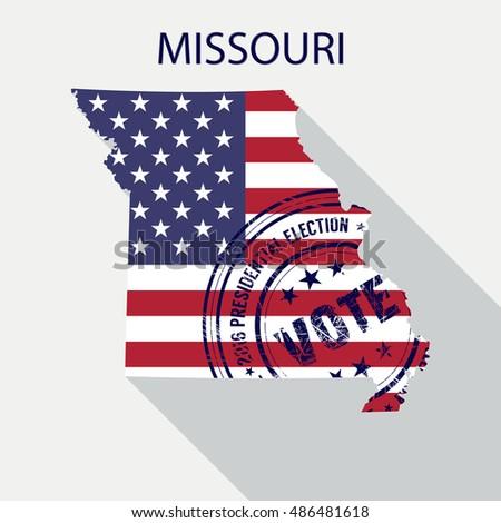 Eagle Usa Flag Inside Veterans Day Stock Vector 503503807