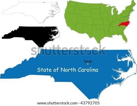 North Carolina Map Stock Images RoyaltyFree Images Vectors - North carolina usa map