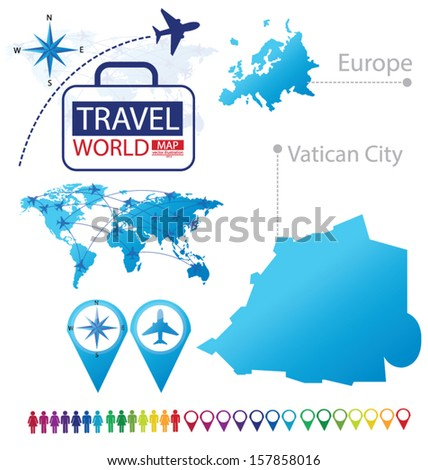 State vatican city europe world map stock vector 157858016 state of the vatican city europe world map travel vector illustration gumiabroncs Image collections