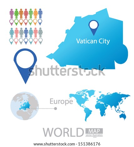 State vatican city europe world map stock vector 151386176 state of the vatican city europe world map vector illustration gumiabroncs Image collections