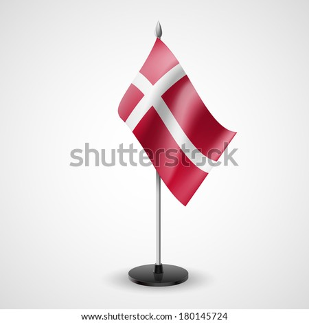 State table flag of Denmark. National symbol   - stock vector